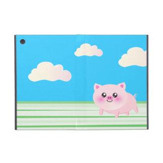 Dibujo animado lindo del cerdo iPad mini fundas