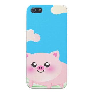 Dibujo animado lindo del cerdo iPhone 5 carcasas