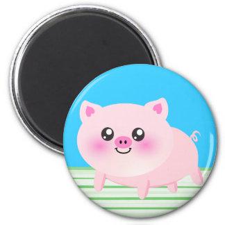 Dibujo animado lindo del cerdo iman para frigorífico