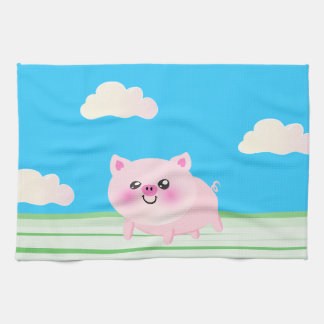 Dibujo animado lindo del cerdo toalla de mano