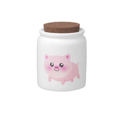 Dibujo animado lindo del cerdo plato para caramelo