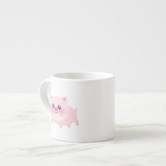 Dibujo animado lindo del cerdo taza espresso