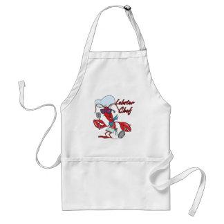 dibujo animado lindo del cocinero de la langosta delantal