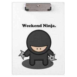 Dibujo animado lindo del combatiente de Ninja del