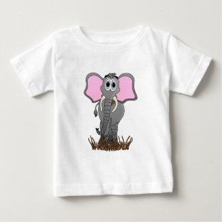 Dibujo animado lindo del elefante playera de bebé