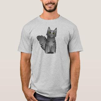 Dibujo animado lindo del gato de Coon de Maine - Playera
