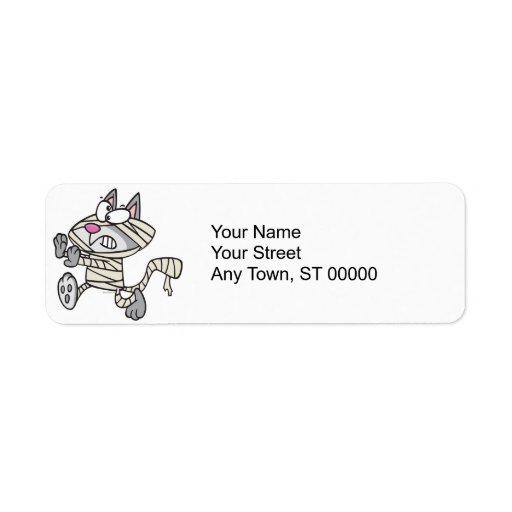 dibujo animado lindo del gato del gatito de la mom etiqueta de remitente