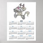 dibujo animado lindo del gato del gatito de la mom poster