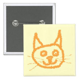 Dibujo animado lindo del gato del jengibre, en la  pin