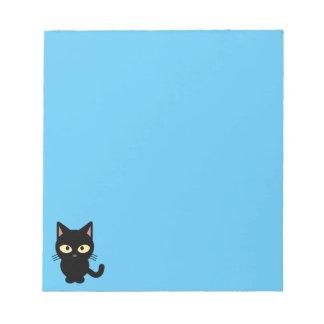 Dibujo animado lindo del gato negro blocs