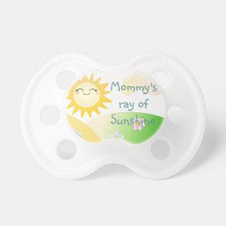 Dibujo animado lindo del kawaii del sol chupetes para bebés