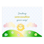 Dibujo animado lindo del kawaii del sol postales