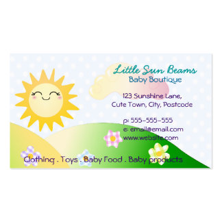 Dibujo animado lindo del kawaii del sol tarjetas de visita