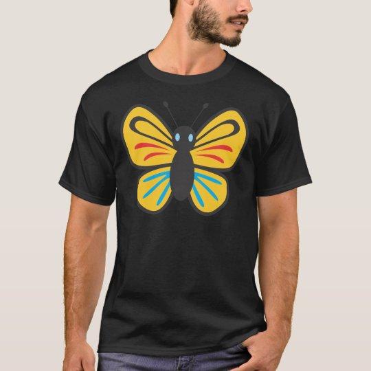 Dibujo animado lindo del monarca de la mariposa playera