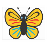 Dibujo animado lindo del monarca de la mariposa postal