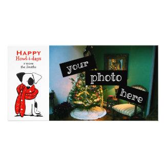 Dibujo animado lindo del navidad de la bufanda del tarjetas personales