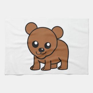 Dibujo animado lindo del oso del bebé toallas de cocina