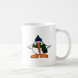 Dibujo animado lindo del pájaro del Snowbird Taza De Café