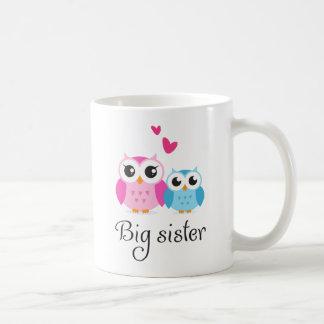 Dibujo animado lindo del pequeño hermano de la her taza