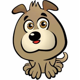 Dibujo animado lindo del perrito fotoescultura vertical