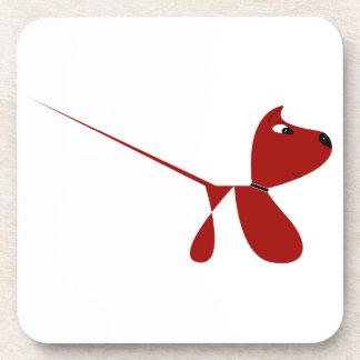 Dibujo animado lindo del perro de perrito posavasos