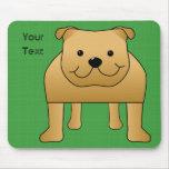 Dibujo animado lindo del perro. Dogo rojo Alfombrilla De Ratón