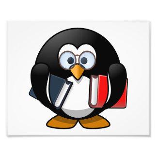 Dibujo animado lindo del pingüino del ratón de fotografía