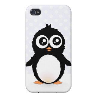 Dibujo animado lindo del pingüino iPhone 4 cárcasa