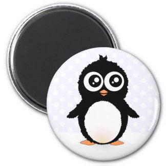 Dibujo animado lindo del pingüino imán para frigorífico