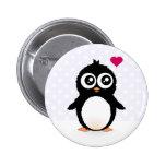 Dibujo animado lindo del pingüino pin