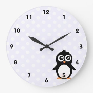 Dibujo animado lindo del pingüino relojes de pared