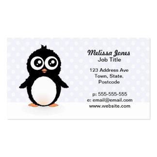 Dibujo animado lindo del pingüino tarjetas de negocios