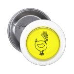 Dibujo animado lindo del pollo 3D Pins
