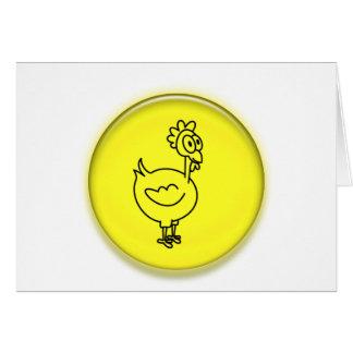 Dibujo animado lindo del pollo 3D Tarjeta De Felicitación