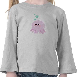 Dibujo animado lindo del pulpo camisetas