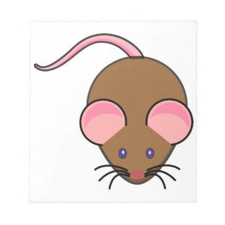 Dibujo animado lindo del ratón bloc