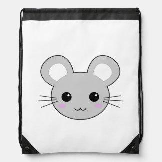 Dibujo animado lindo del ratón de Kawaii Mochilas