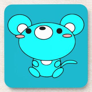 dibujo animado LINDO del ratón de los animales del Posavasos De Bebidas