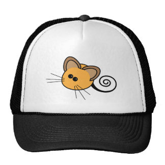Dibujo animado lindo del ratón gorro de camionero