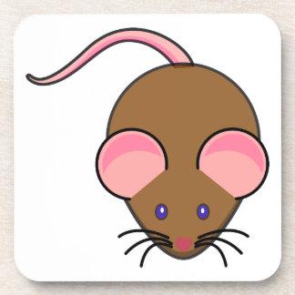 Dibujo animado lindo del ratón posavaso