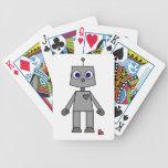 Dibujo animado lindo del robot cartas de juego