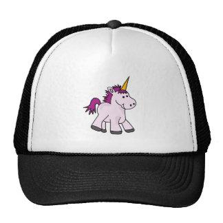 Dibujo animado lindo del unicornio del bebé gorro de camionero