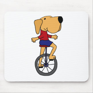 Dibujo animado lindo del Unicycle del montar a cab Tapetes De Raton