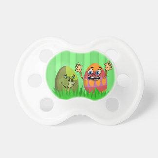 Dibujo animado lindo divertido de los huevos de chupetes de bebé