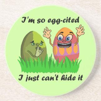 Dibujo animado lindo divertido de los huevos de posavasos manualidades