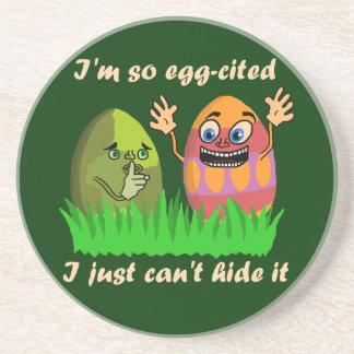 Dibujo animado lindo divertido de los huevos de posavaso para bebida