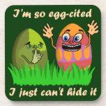 Dibujo animado lindo divertido de los huevos de posavasos de bebidas