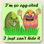 Dibujo animado lindo divertido de los huevos de posavasos de bebida
