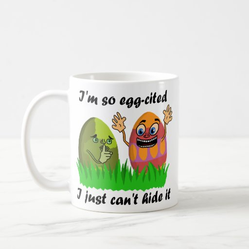 Dibujo animado lindo divertido de los huevos de taza básica blanca