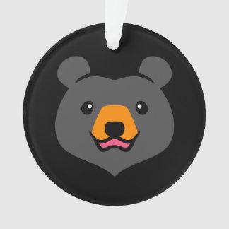 Dibujo animado lindo minimalista del oso negro